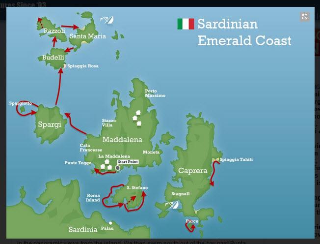 Sardinia map La Maddalena